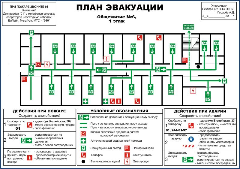 План эвакуации из помещения